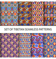 collection colorful pixel patterns vector image vector image