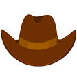 colorful cartoon cowboy hat vector image