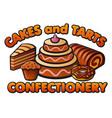 confectionery logo vector image