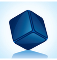 cube is in blue shade stock vector image