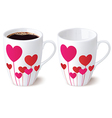 Cup heart vector image vector image
