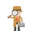 detective cute character professional set flat vector image