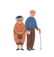 elderly senior man and woman in glasses standing vector image
