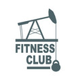 fitness club text vector image vector image