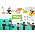 flat business colorful concept vector image vector image