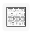 floor icon black vector image