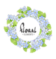 Floral frame of summer flowers vector image vector image