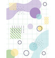 geommetric memphis 80s 90s style abstract grid vector image vector image