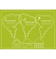 green village and clean environment infographics vector image