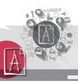 Hand drawn engineering icons with icons background vector image vector image