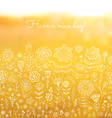 Have a nice day background vector image vector image