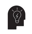 idea in head black concept icon idea in vector image vector image