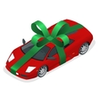 Isometric New car gift vector image vector image