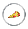 Italian pizza icon in cartoon style isolated on vector image vector image