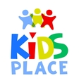 Kids Place Logo Template vector image