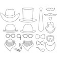 line art black and white hipster 21 element set vector image vector image