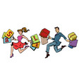man and woman sale buy vector image vector image