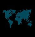 map global planet earth point black background vector image