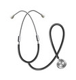 medical stethoscope instrument template realistic vector image vector image