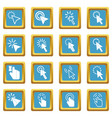 mouse pointer icons azure vector image vector image