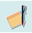 notebook icon design vector image vector image