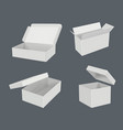 open realistic boxes packages templates cardboard vector image