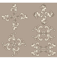 Ornate design elements vector image