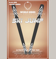 poster template of winter games of big jump vector image vector image