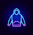 pullover neon sign vector image