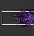 purple glitter explosion on grey background vector image