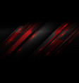 red metallic light cyber polygon slash on dark vector image vector image