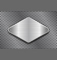 rhombus brushed metal plate on perforated texture vector image vector image