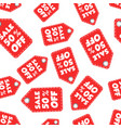 sale 50 off hang tag seamless pattern background vector image vector image