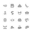 sea food - flat icons vector image vector image