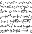 Seamless with algebra symbols vector image vector image