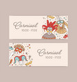 set horizontal web banner templates with vector image