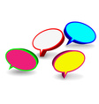 Set of 3D speech bubbles vector image