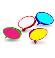 Set of 3D speech bubbles vector image vector image