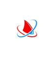 shark technology abstract logo vector image vector image
