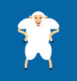 sheep angry avatar of emotions ewe evil emoji vector image vector image