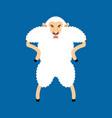 sheep angry avatar of emotions ewe evil emoji vector image