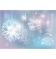 silver christmas card colorful vector image vector image