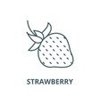 strawberry line icon linear concept vector image