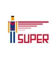 Super symbol vector image vector image