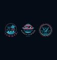 surf club logo design set hawaii summer retro vector image vector image