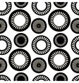 The pattern of black and white circles vector image vector image
