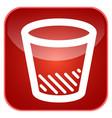 trash can app icon vector image