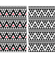 Tribal aztec colorful seamless pattern with heart vector image vector image