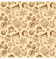 vintage Christmas background seamless tiling vector image vector image
