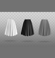 white gray and black women skirts set of vector image vector image